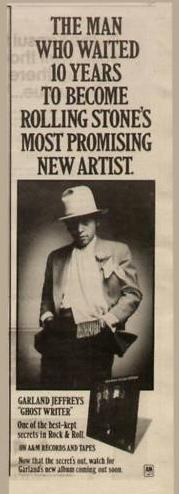 Garland Jeffreys Ad Ghost Writer 1977